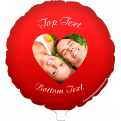 Red Heart Photo Balloon