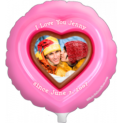 Pink Chocolate Heart Photo Balloon